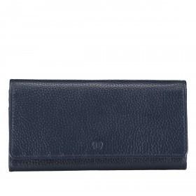Geldbörse Amra Bradley mit RFID-Funktion Dunkelblau