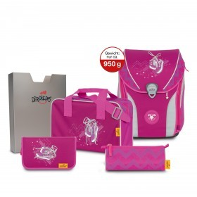 Schulranzen Ergoflex Max Set 5-teilig Pink Sneaker