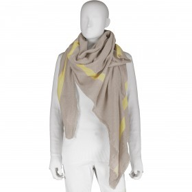 Tuch WHY-NOT Rock Grey Soft Yellow