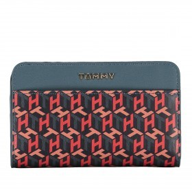 Geldbörse Iconic Medium Wallet Zip Around Seasonal Monogram Charcoal Blue