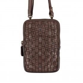 Handytasche Soft-Weaving Nina B3.2322 mit Schulterriemen Chocolate Brown