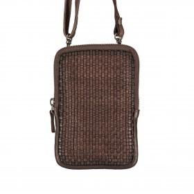 Handytasche Soft-Weaving Edith B3.2323 mit Schulterriemen Chocolate Brown