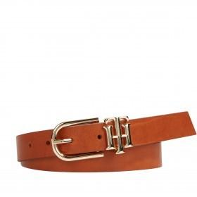 Gürtel Lux Logo Belt Bundweite 90 cm Cognac