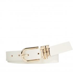Gürtel Lux Logo Belt Bundweite 90 cm White