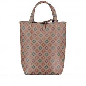 Handtasche mit Rautendruck Braun
