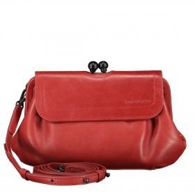 Umhängetasche / Clutch Grandma's Luxury Club mit Knipsverschluss Crimson Red