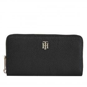 Geldbörse Essence Large Zip Around Wallet Black