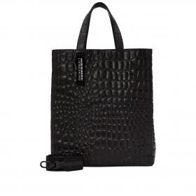Tasche Paper Bag Tote M Kroko Black