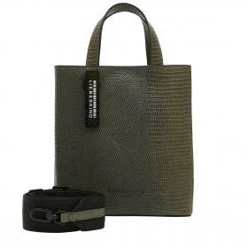 Handtasche Flare Paper Bag Tote S Lizard Tea Leaf