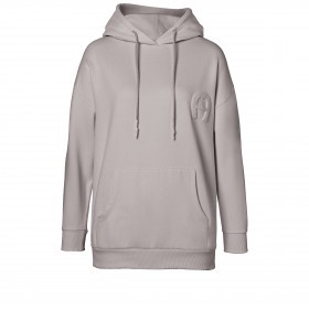 Sweatshirt Hoodie 252000 mit Kapuze und Logostickerei Größe M Clay Grey