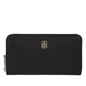 Geldbörse Element Large Wallet with Zip Around Black