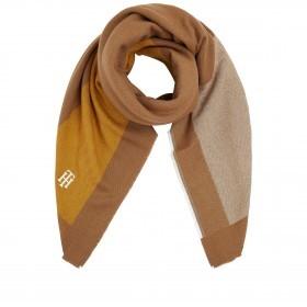 Tuch Feminine Blanket Oversize Color Block Camel Mix