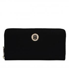 Geldbörse Large Wallet with Zip Around Black