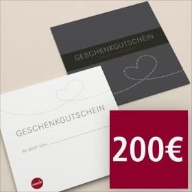 Gutschein per Post 200 €