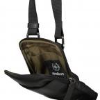 Umhängetasche Hyde Park Shoulderbag XSVZ1, Farbe: schwarz, cognac, Marke: Strellson, Abmessungen in cm: 13.0x18.0x2.0, Bild 7 von 7