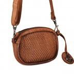 Umhängetasche / Gürteltasche Soft-Weaving Wendy SW.10499, Farbe: anthrazit, cognac, Marke: Harbour 2nd, Abmessungen in cm: 18.0x12.0x5.0, Bild 2 von 8