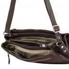 Umhängetasche Nappa, Farbe: schwarz, braun, Marke: Hausfelder, Abmessungen in cm: 25.5x20.0x11.0, Bild 8 von 8