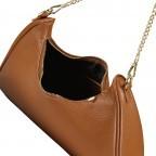 Umhängetasche mit abnehmbarem Reißverschlussetui, Farbe: schwarz, braun, cognac, Marke: Hausfelder, Bild 8 von 10