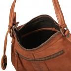 Tasche New-Lines Anabell NL.10527, Farbe: anthrazit, blau/petrol, cognac, orange, Marke: Harbour 2nd, Abmessungen in cm: 30.0x20.0x10.0, Bild 9 von 9