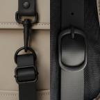 Rucksack Backpack Mini, Farbe: schwarz, anthrazit, grau, blau/petrol, taupe/khaki, grün/oliv, rosa/pink, gelb, beige, weiß, Marke: Rains, Abmessungen in cm: 27.0x39.0x8.0, Bild 5 von 5