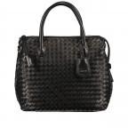 Handtasche Gunda Small, Farbe: schwarz, cognac, taupe/khaki, Marke: Abro, Abmessungen in cm: 27.0x25.0x14.0, Bild 1 von 9