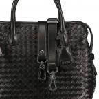 Handtasche Gunda Small, Farbe: schwarz, cognac, taupe/khaki, Marke: Abro, Abmessungen in cm: 27.0x25.0x14.0, Bild 9 von 9