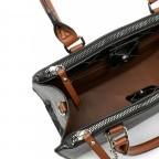 Shopper Anastasia, Farbe: schwarz, grau, blau/petrol, taupe/khaki, beige, Marke: Tamaris, Abmessungen in cm: 29.5x22.5x14.0, Bild 4 von 5