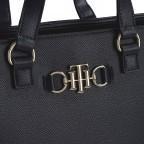 Handtasche Club Tote, Farbe: schwarz, blau/petrol, Marke: Tommy Hilfiger, Abmessungen in cm: 35.0x25.0x12.5, Bild 3 von 3