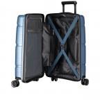 Koffer PP11 55 cm, Farbe: grau, blau/petrol, rot/weinrot, rosa/pink, Marke: Franky, Abmessungen in cm: 39.5x55.0x20.0, Bild 7 von 9