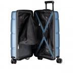 Koffer PP11 55 cm, Farbe: grau, blau/petrol, rot/weinrot, rosa/pink, Marke: Franky, Abmessungen in cm: 39.5x55.0x20.0, Bild 8 von 9