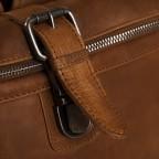 Rucksack Dali mit Rolltop, Farbe: schwarz, cognac, Marke: The Chesterfield Brand, Abmessungen in cm: 33.0x14.0x13.0, Bild 7 von 7