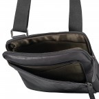 Umhängetasche Hyde Park Shoulderbag XSVZ Black, Farbe: schwarz, Marke: Strellson, EAN: 4053533807857, Abmessungen in cm: 22.0x25.0x4.0, Bild 6 von 7