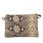 Umhängetasche / Clutch Snake Braun, Farbe: braun, Marke: Hausfelder, EAN: 4065646001725, Abmessungen in cm: 27.0x18.0x1.0, Bild 10 von 10