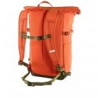 Rucksack High Coast Foldsack Volumen 24 Liter Rowan Red, Farbe: orange, Marke: Fjällräven, EAN: 7323450598174, Abmessungen in cm: 26.0x45.0x20.0, Bild 2 von 10