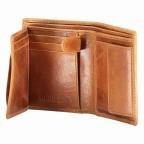 Geldbörse Amra Folkland Cognac, Farbe: cognac, Marke: Hausfelder, EAN: 4251672750045, Abmessungen in cm: 9.0x11.5x1.5, Bild 5 von 6