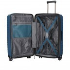 Koffer PP13 66 cm Blue Metallic, Farbe: blau/petrol, Marke: Franky, EAN: 4251672746185, Abmessungen in cm: 45.5x66.0x26.0, Bild 9 von 11