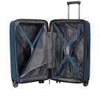 Koffer PP13 66 cm Blue Metallic, Farbe: blau/petrol, Marke: Franky, EAN: 4251672746185, Abmessungen in cm: 45.5x66.0x26.0, Bild 10 von 11
