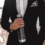 Trinkflasche Volumen 400 ml Teak Wood, Farbe: braun, Marke: Glacial Bottle, EAN: 7340144805608, Bild 2 von 2