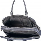 Aktentasche für Damen Dunkelblau, Farbe: blau/petrol, Marke: Hausfelder, EAN: 4065646001596, Abmessungen in cm: 36.0x28.0x13.0, Bild 8 von 11