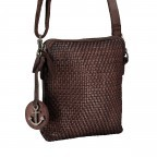 Umhängetasche Soft-Weaving Thelma B3.9786 Chocolate Brown, Farbe: braun, Marke: Harbour 2nd, EAN: 4046478047884, Abmessungen in cm: 19.5x20.0x3.0, Bild 2 von 6