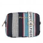 Umhängetasche Iconic Camera Bag Stripes Corporate Stripes, Farbe: blau/petrol, Marke: Tommy Hilfiger, EAN: 8720113711816, Abmessungen in cm: 21.0x15.0x7.0, Bild 1 von 2