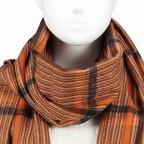 Schal Karo mit Kunstfellbommeln Orange, Farbe: orange, Marke: Hausfelder, EAN: 4065646001671, Bild 2 von 2