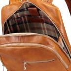 Rucksack Braun, Farbe: braun, Marke: Hausfelder, EAN: 4065646004849, Abmessungen in cm: 29.0x37.0x12.0, Bild 6 von 7