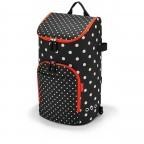 Einkaufsroller Citycruiser Set 2 teilig Rack + Bag Mixed Dots, Farbe: rot/weinrot, Marke: Reisenthel, Bild 2 von 14