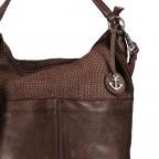 Beuteltasche Soft-Weaving Antonia SW.10501 Chocolate Brown, Farbe: braun, Marke: Harbour 2nd, EAN: 4046478051836, Abmessungen in cm: 41.0x36.5x14.0, Bild 8 von 9