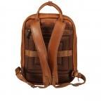 Rucksack mit Laptopfach 13 Zoll Cognac, Farbe: cognac, Marke: Hausfelder, EAN: 4065646004986, Abmessungen in cm: 27.5x37.0x10.0, Bild 4 von 8
