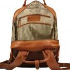 Rucksack mit Laptopfach 13 Zoll Cognac, Farbe: cognac, Marke: Hausfelder, EAN: 4065646004986, Abmessungen in cm: 27.5x37.0x10.0, Bild 7 von 8