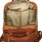 Rucksack mit Laptopfach 13 Zoll Cognac, Farbe: cognac, Marke: Hausfelder, EAN: 4065646004986, Abmessungen in cm: 27.5x37.0x10.0, Bild 8 von 8